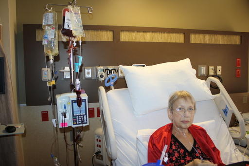 Mom Receiving Blood Transfusion