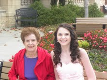 Homecoming October 2012- My grandmother and I