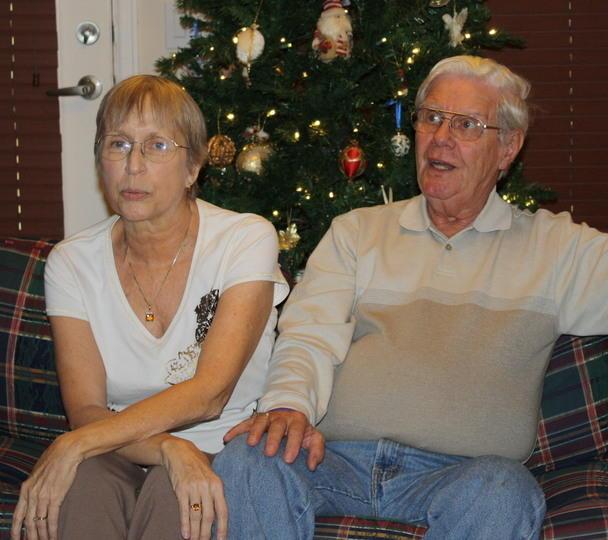 Mom and Dad at Christmas