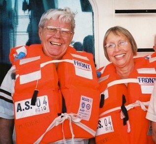 Mom and Dad in Life Jackets